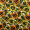 Sunflowers Cotton Spandex Knit Fabric