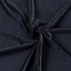 Navy Blue Euro Stretch Velvet Knit