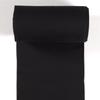 Black Cuff 2x2 Tubular Cotton Ribbing Euro Knit
