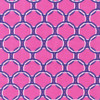 Laguna Cotton Jersey Pink with Purple Circles by Anne Kelle for Robert Kaufman