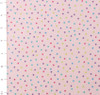 Baby Pink Small Multi Dots Cuddle Flannel by Fabri Quilt