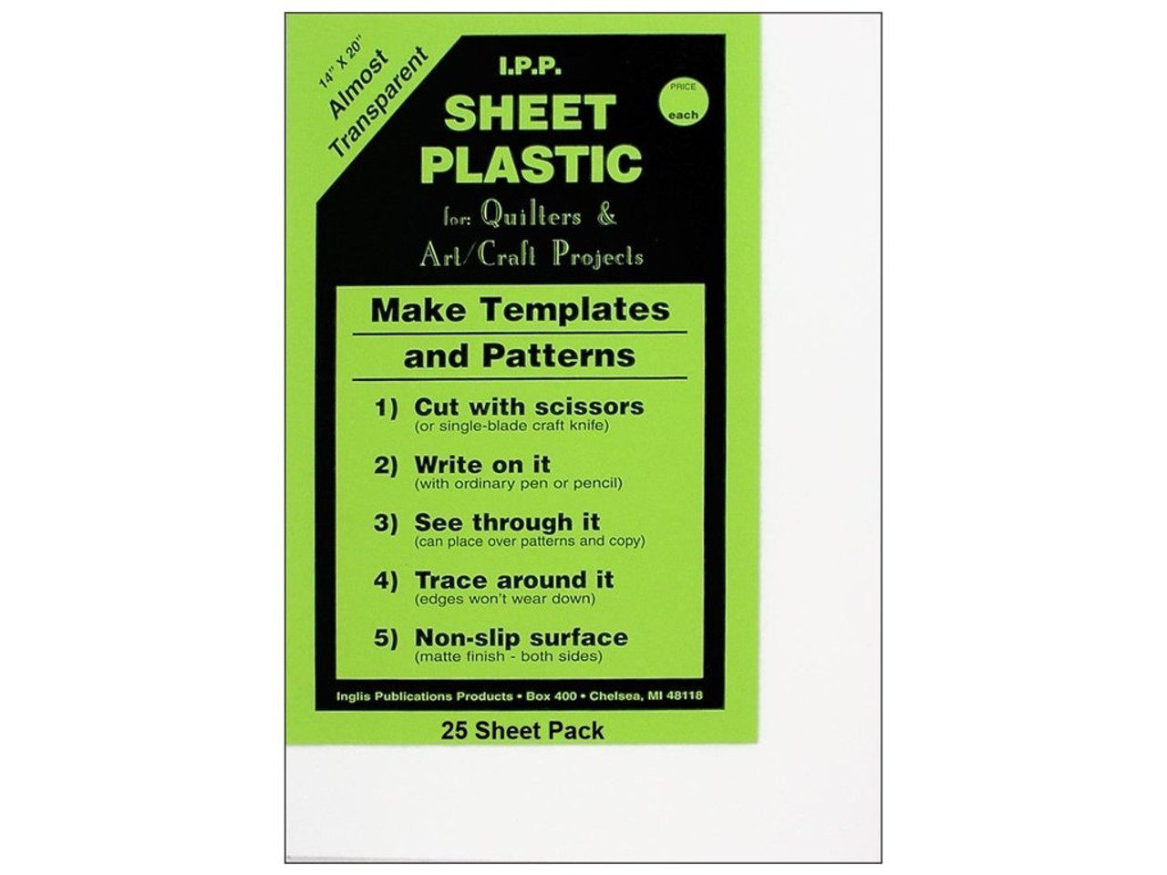 template plastic sheets