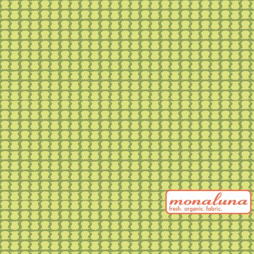 Organic Little Lilies Interlock Knit by Mona Luna