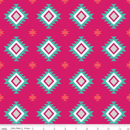 Knit Aztec Hot Pink by Riley Blake