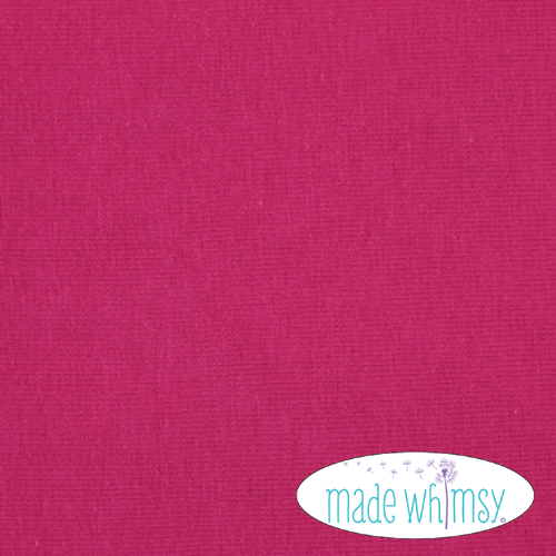 Knit Dark Fuchsia Solid by Made Whimsy