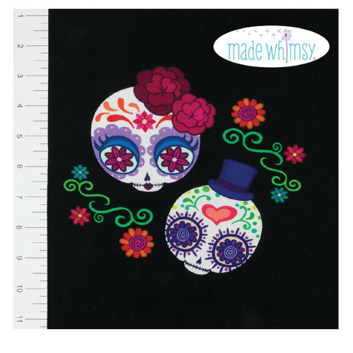 Diva De Los Muertos Child Knit Panel by Made Whimsy