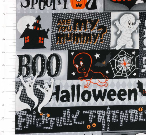Creepy Casper Halloween Patch by Quilting Treasures