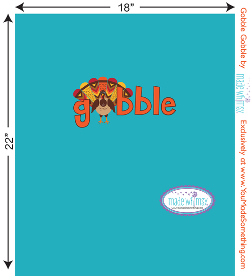 Gobble Gobble Knit Panel by Made Whimsy