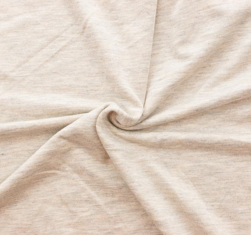 Oatmeal Rayon/Spandex Knit by Made Whimsy