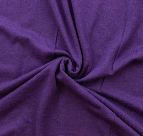 Eggplant Rayon/Spandex Knit by Made Whimsy