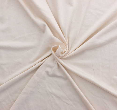Cream Rayon/Spandex by Made Whimsy