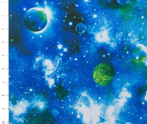 Galaxy Blue Poly/Spandex Knit