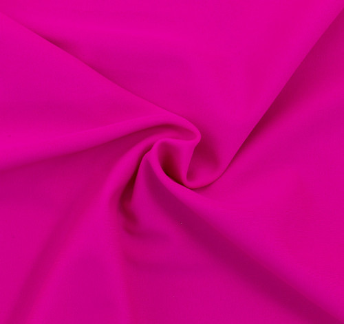 Fuchsia SPF 30 Solid Nylon Spandex Swimsuit/Athletic Fabric