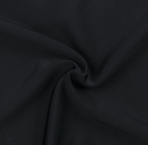Black SPF 50 Solid Nylon Spandex Swimsuit/Athletic Fabric