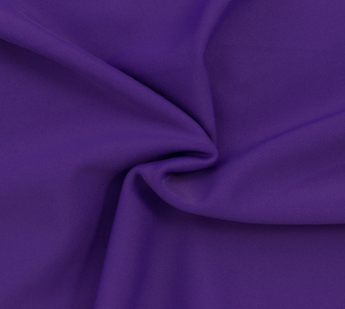 Purple SPF 50 Solid Nylon Spandex Swimsuit/Athletic Fabric