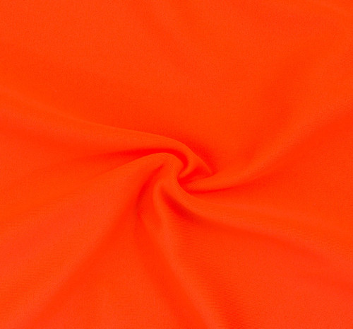 Neon Orange SPF 30 Solid Nylon Spandex Swimsuit/Athletic Fabric