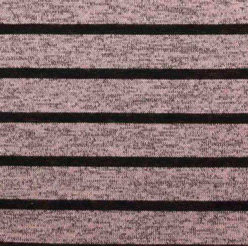 Blush 2 Tone Hacci Sweater Stripe Knit