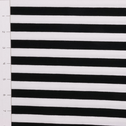 """1/2"""" Black and White Yarn Dyed Stripes by Made Whimsy"""
