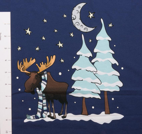 The Cozy Moose Adult Panel French Terry by Made Whimsy