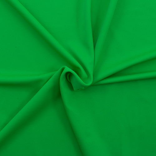 Green SPF 50 Solid Nylon Spandex Matte Swim Fabric