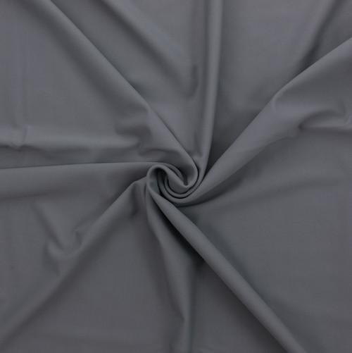 Silver SPF 30 Solid Nylon Spandex Matte Swim Fabric