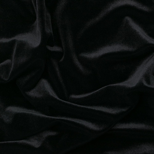 Black Stretch Velvet by Made Whimsy