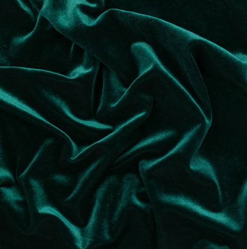 Emerald Stretch Velvet by Made Whimsy