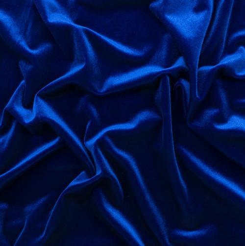 Sapphire Stretch Velvet by Made Whimsy