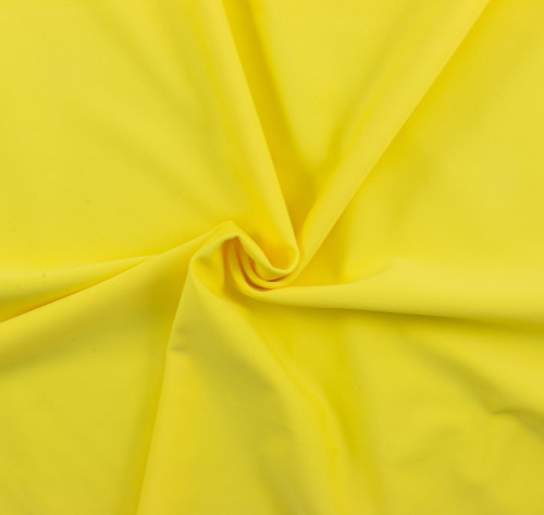 Bright Yellow SPF 50 Solid Nylon Spandex Matte Swim Fabric