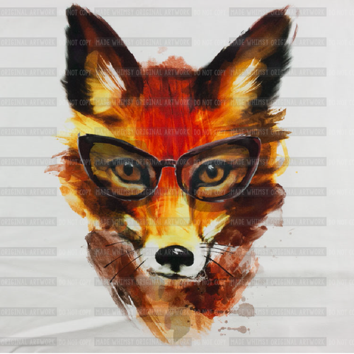 Hipster Fox Panel Cotton/Lycra