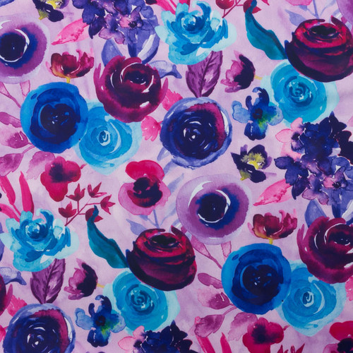 Purple Roses Floral Swim Knit by Made Whimsy
