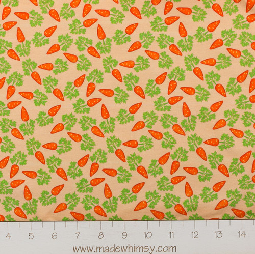 Carrot Time Tossed Cotton Spandex Knit by Made Whimsy