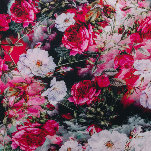 Vintage Roses Floral Knit by Riza