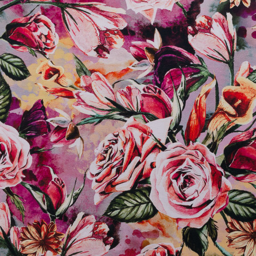 Dusted Roses Floral Knit by Riza