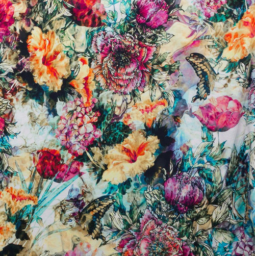 Enchanted Garden Floral Knit by Riza