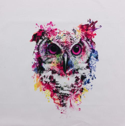 Amazing Watercolor Owl Panel by Riza Peker