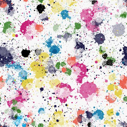 Vibrant Splatter White by ClarkMade for Made Whimsy