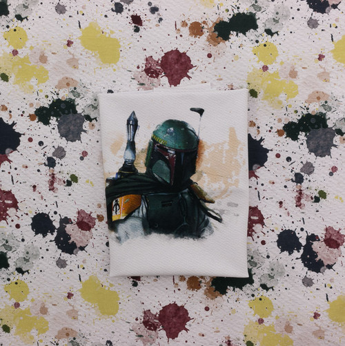 Boba Watercolor Panel by ClarkMade