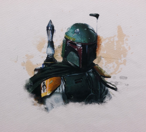 Pre-Order Boba Watercolor Panel by ClarkMade