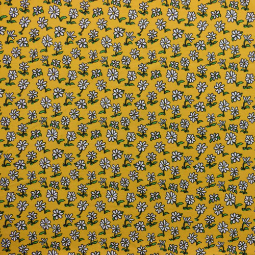 Daisies on Mustard Designed by Steve Rampton for Made Whimsy
