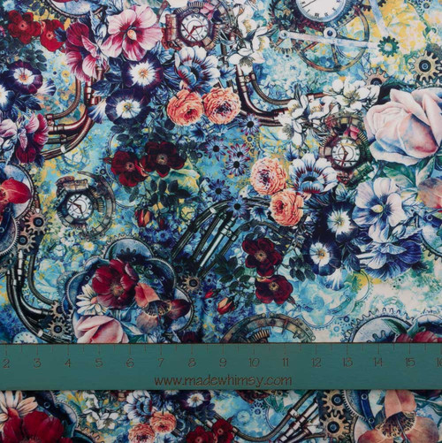 Steampunk Plush Stretch Knit by Riza Peker