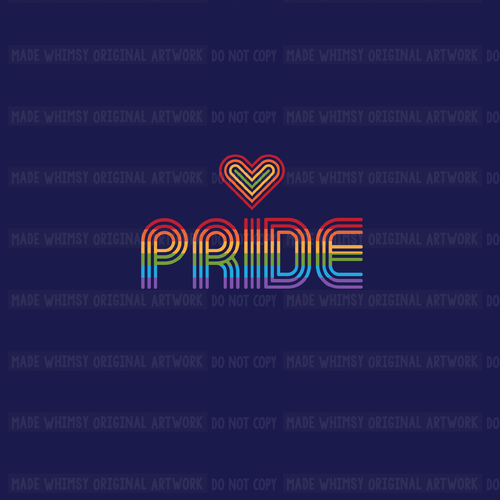 Retro Pride Knit Panel by Made Whimsy