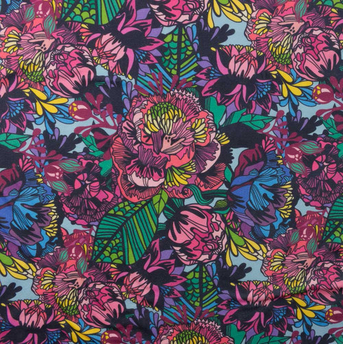 Vibrant Mixed Floral DBP Knit by Made Whimsy