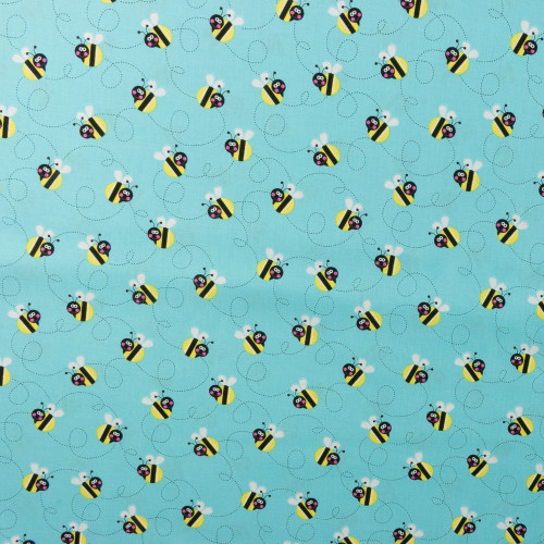 Bumble Bees on Blue by Studio E