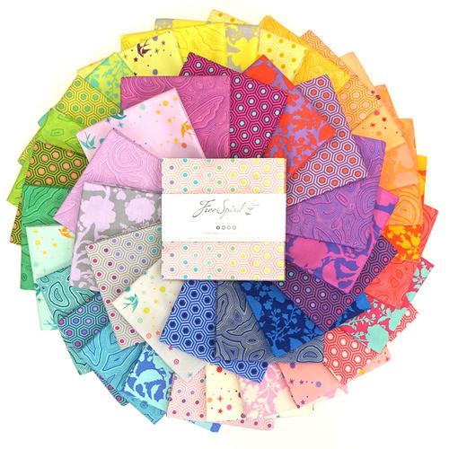 """Pre-Order: True Colors Pre-Cut 10"""" Charm Squares by Tula Pink"""