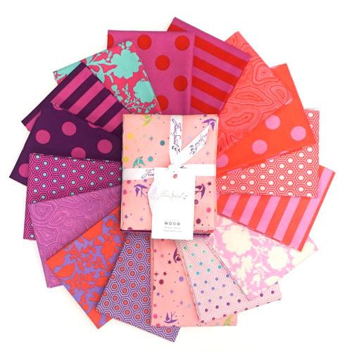 Pre-Order: True Colors Flamingo Fat Quarter Bundle by Tula Pink