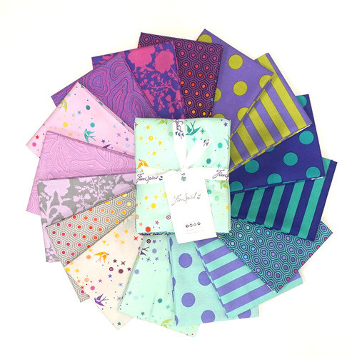 Pre-Order: True Colors Peacock Fat Quarter Bundle by Tula Pink