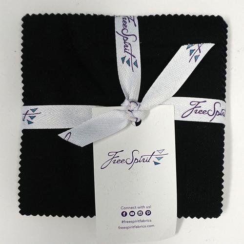 """Designer Essentials Black 5"""" Charm Pack by Free Spirit"""