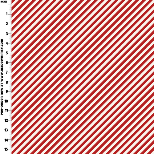Candy Stripe Cream and Red Knit by Made Whimsy