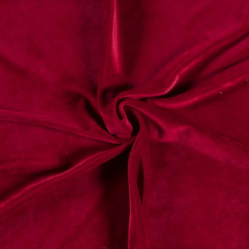 Dark Red Euro Stretch Velvet Knit
